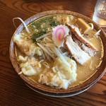 武者気 - 2017/02/25 辛味噌らぁ麺 780円 ワンタントッピング 200円