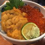 菊鮨 - うに・いくら丼 3,800円