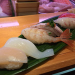 ひょうたん寿司 - ひょうたん寿司(福岡県福岡市中央区天神)旬のおまかせにぎりセット 1950円
