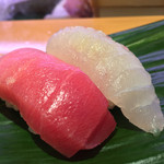 ひょうたん寿司 - ひょうたん寿司(福岡県福岡市中央区天神)旬のおまかせにぎりセット〜中トロ・ヒラメ