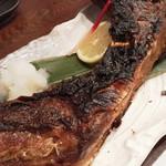 魚笑 - 料理写真:マグロのかまの塩焼き