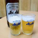 鳥八食堂 - 瓶ビール