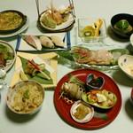 膳処くろひめ - 糸魚川御膳5400円。地ものにこだわるくろひめおすすめの会席コースです。