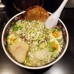 あじさい - 「味彩塩拉麺 (750円)+「おすすめトッピング① (550円)」
