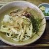 山小屋 - 料理写真:ごぼう天ぶっかけ(温)460&肉@220