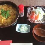 うい庵 - かき玉うどん(850円)