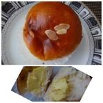 F - ◆クリームパン(144円)・・こちらの定番ですが、主人が好きでして・・ カスタードクリームも甘さ控えめで美味しいそうですよ。