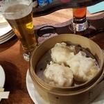 """はこだてビール - 「函館かくまん謹製""""いか焼売"""" (750円)」"""