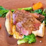 リコス・キッチン - メインは神戸牛のカメノコという部位のグリル!