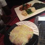 焼肉・韓国料理 牛兵衛 渋谷店 - 特製ネギ塩タン、前菜盛合せ