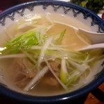 牛たん炭火焼 吉次 - ☆牛テールスープ!(^^)!☆