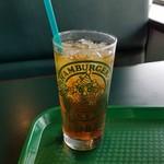 ラッキーピエロ - セットの「自家製新鮮 本物ウーロン茶」