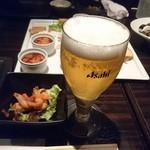 楽蔵 - ビール、【先付】小海老のレモンマリネ