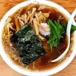 青島食堂 - 料理写真:青島食堂@宮内店 青島ラーメン・ほうれん草・メンマ
