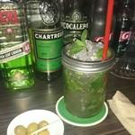 隠れ家bar PTN - モヒート&オリーブ(チャーム)