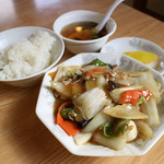 ひろ - 八宝菜定食850円