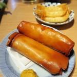 晩杯屋 - 究極パリパリ春巻き(2本)¥250