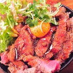 お肉と神戸野菜とワインとチーズ TOROROSSO - アメリカンステーキ丼 大盛り