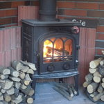 Chiffon Cafe Soie - 10 そこに有るだけで癒される薪ストーブ、赤々と燃える火が更に癒し効果を倍増させます…ちょっと煙いけどねw