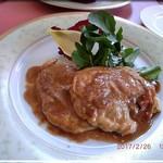 63147109 - コースメイン 豚フィレ肉のサルティンボッカ ローマ風