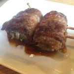 肉菜炭火屋 ミヤビ - 和牛やさい巻串  えのき