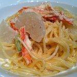 イタリア料理 イル・ヴィネイト - カニとカブのクリームパスタ アップ