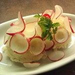 バルマル・エスパーニャ - めで鯛・真鯛・ポテト・ラディッシュのポテトサラダ