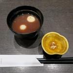 とんかつ浜勝 - 梅椀風お汁粉