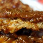 肉の宝屋 - チキンカツ カレーまみれの断面