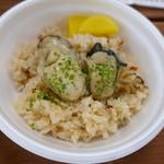 かき小屋 - 牡蠣飯 400円