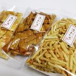 京あられ 東坂米菓 - どれも美味しい。約80g1袋250円(2017.1月)