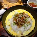 らあめん花月嵐 - 鉄板豚バラザーサイ炒飯(570円)