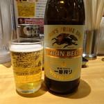 らあめん花月嵐 - 瓶ビール(520円)
