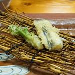 浅草じゅうろく - 天ぷら 活き穴子、タラの芽