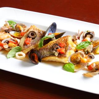 鮮魚のアクアパッツア