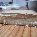 モンリブラン - カフェオレボックス クリームの重さでパンがひずんでます