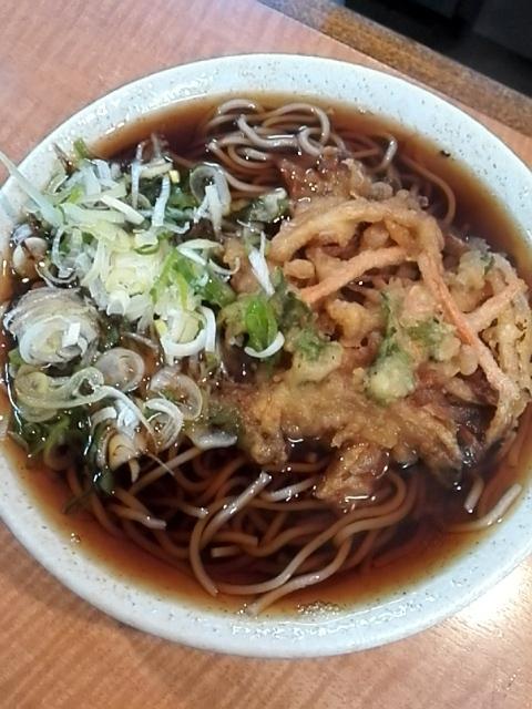 神楽坂そば - 野菜天そば¥390+大盛¥70