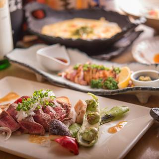 国産にこだわり、美味しい食材を九州全域から集めています