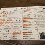 Yompachigyojou - 四十八漁場メニュー