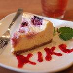 キク - クランベリーチーズケーキ