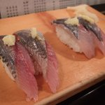 魚がし鮨 - いわし/あじ
