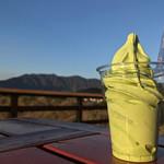 山のおちゃやさん - 料理写真:抹茶ソフト 300円