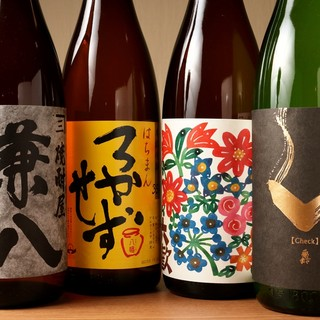 20種類の日本酒と10種類以上の焼酎