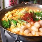 串焼旬菜 楽 - モツ鍋