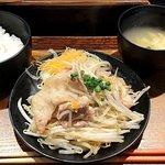 がちまや食堂 - がちまや食堂 @板橋本町 しょうが焼き定食 税込500円 ご飯少な目で