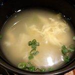 がちまや食堂 - がちまや食堂 @板橋本町 しょうが焼き定食に付く溶き玉子スープ