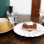 石田珈琲店 - 金柑とチョコのチーズケーキ