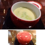 ISHIDA - ◆茶碗蒸し・・通常の倍量の鰹や昆布で丁寧に引いた出汁が使用されています。 出汁のお味がいいので卵汁も美味しいですね。