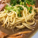 山岡家 - 麺(中盛)
