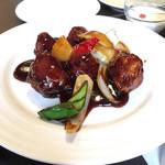 冠龍食府 - 選べるランチセットの黒酢豚